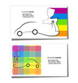 business card for painting cars vector image vector image