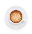 cappuccino cup and plate vector image vector image