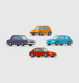 car set of icons vehicle transport parking vector image