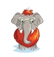 Cartoon image of a baby mammoth vector image vector image
