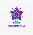 christmas star thin line icon vector image vector image