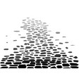 cobbled street background vector image vector image