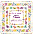 cute frames with baicons vector image vector image