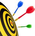 darts hitting target vector image vector image
