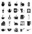 delftware icons set simple style vector image vector image
