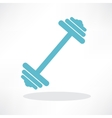 dumbbell weights symbol vector image vector image