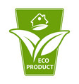 eco product label sticker vector image