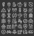 energy saving icon set outline style vector image vector image