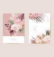 exotic dry flower palm leaves boho vector image vector image
