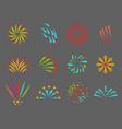 firework celebration holiday vector image vector image
