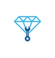 fix diamond logo icon design vector image vector image