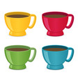 flat cups set vector image