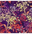 Floral Colorful Seamless Background with Branches vector image vector image
