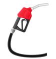 Gasoline pump nozzle vector image