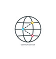 global networking icon globe icon isolated on vector image