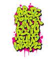graffiti comic alphabet font vector image vector image