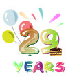 happy anniversary 29 years vector image