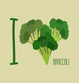 I love Broccoli Heart of green broccoli vector image vector image