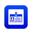 identification card icon digital blue vector image vector image