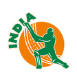india cricket icon vector image