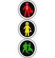 isolated people traffic light design vector image vector image