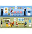 it startup concept flat design vector image