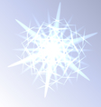 Light snowflake closeup vector image