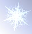 Light snowflake closeup
