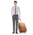man with luggage vector image