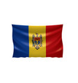 moldova flag on a white vector image vector image
