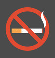 non smoking area sign symbol flat design vector image vector image