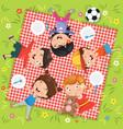 of children in picnic vector image