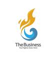 oil n gas logo vector image vector image