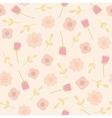 Pink floral seamless pattern vector image vector image