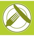 Plate knife and fork Restaurant menu design vector image vector image