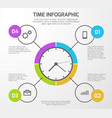 presentation background with time vector image vector image