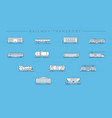 Railway transport concept line style icons