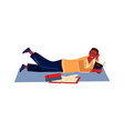 reading man people relax with books and magazines vector image