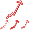 Red line progress logo design set vector image vector image