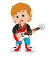 rock star guitar player vector image