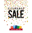 Sale Poster with percent discount Oak colorful vector image vector image