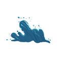sea or ocean wave water blue splash cartoon vector image vector image