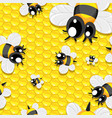 seamless background with honey and babees vector image