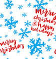 Seamless Christmas pattern Hand lettering vector image vector image