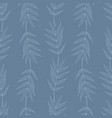 seamless pattern with vertical stripes of leaves vector image vector image