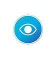 simple minimalistic eye icon in circle web or app vector image