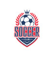 soccer club team football ball icon vector image vector image