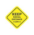 social distancing keep safe distance 2 metres vector image vector image