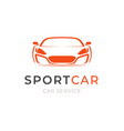 sport car service logo design concept vehicle vector image