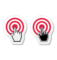 Target with cursor hand icon vector image vector image